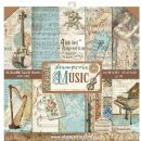 Stamperia - Double-Sided 12 x 12 Inch Paper Pack - Music